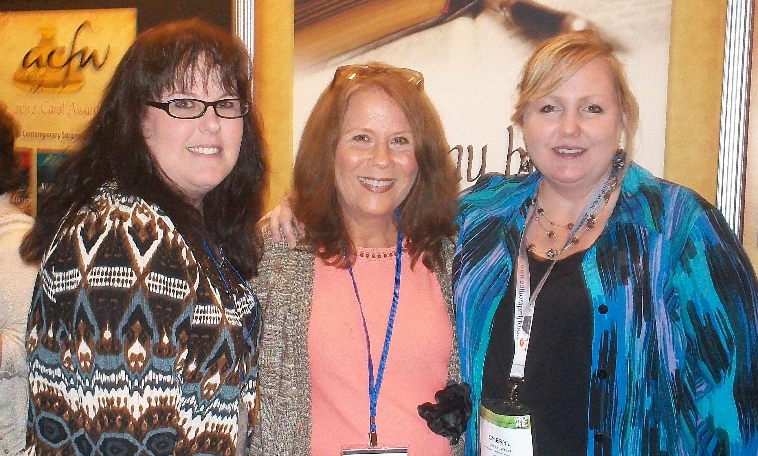 With authors Robin Miller and Cheryl Wyatt