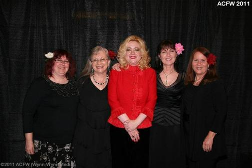 Gail Sattler, Kathi Macias, Trish Perry, and me with our agent Tamela Hancock Murray